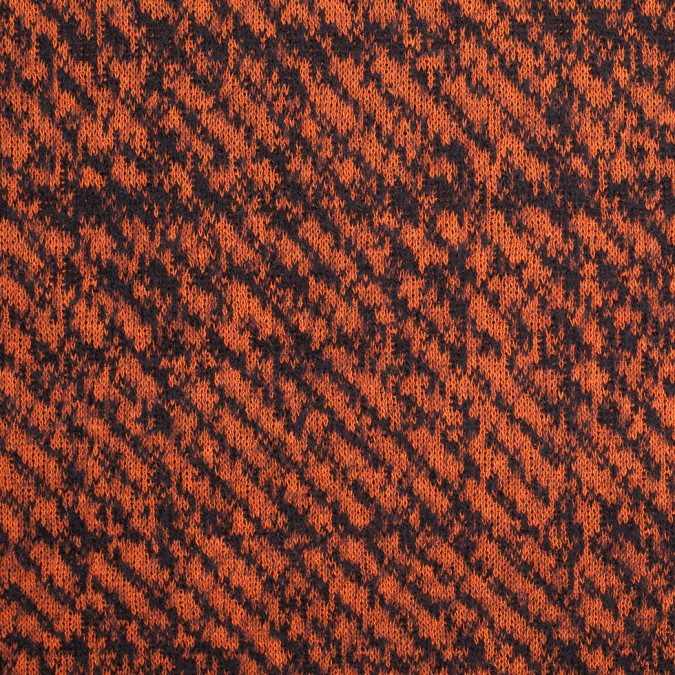 black and orange abstract blended virgin wool knit 307816 11