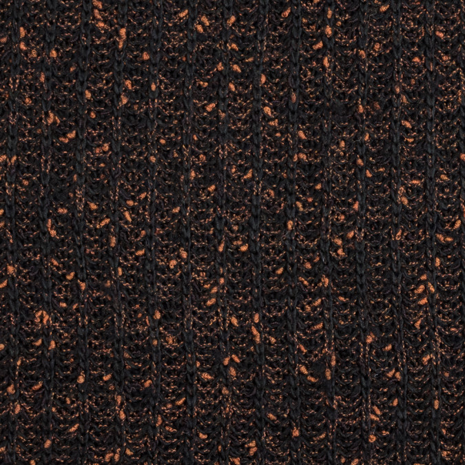 black and orange chunky wool sweater knit 319646 11