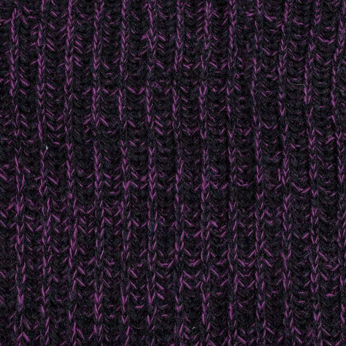 black and purple chunky wool sweater knit 319645 11