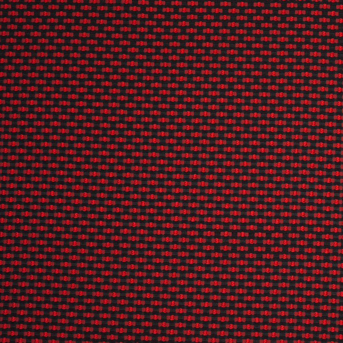 black and red polka dotted polyester jacquard 107427 11