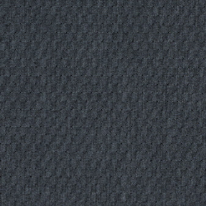 black and steel gray diamond woven stretch cotton suiting 314505 11