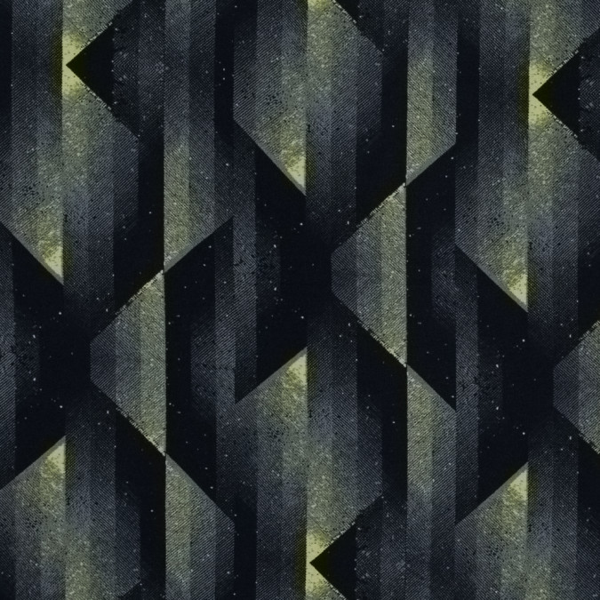 black and sulphur spring abstract geometric printed viscose batiste 314015 11