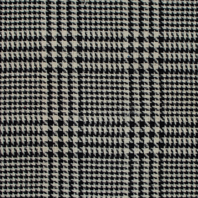 black and turtledove glen plaid loosely woven wool 319127 11