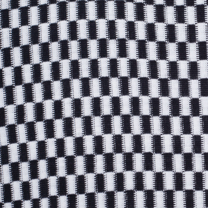 black and white checkerboard wool blend knit 303869 11