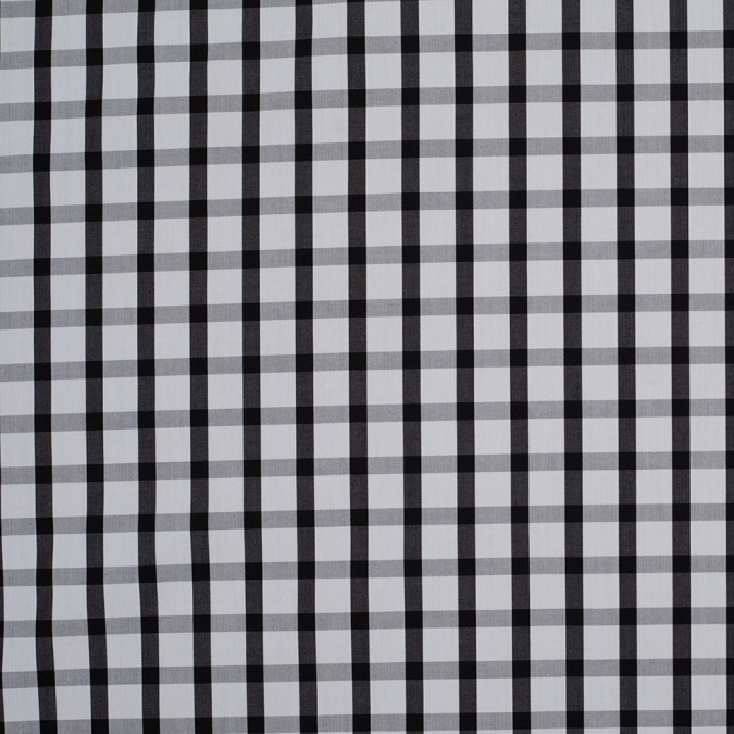 black and white checkered cotton shirting 107275 11