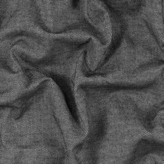 black and white checkered stretch cotton woven 315170 11