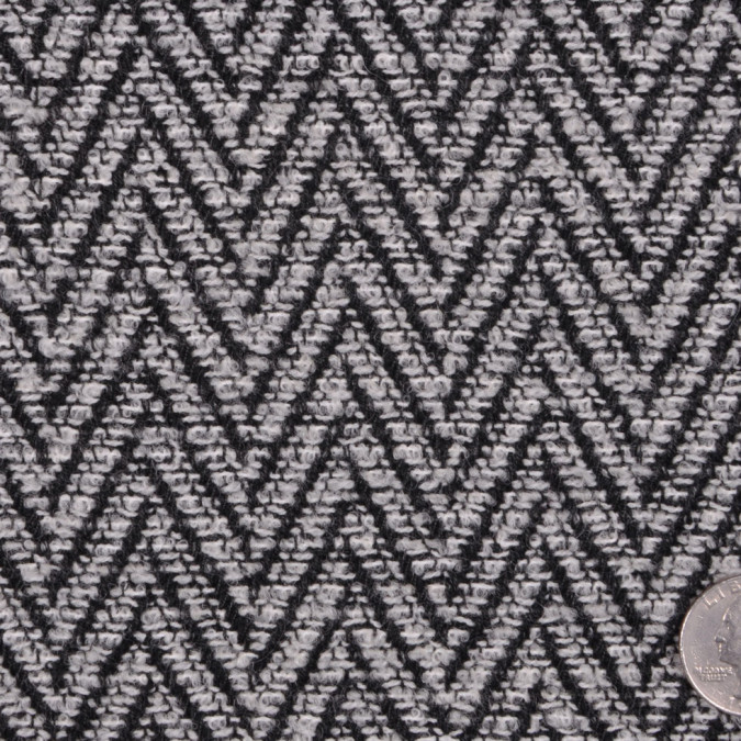 black and white herringbone wool lycra boucle fw12096 11