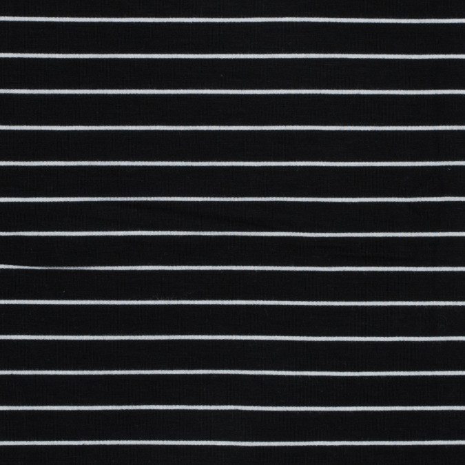 black and white pencil striped rayon jersey 317299 11
