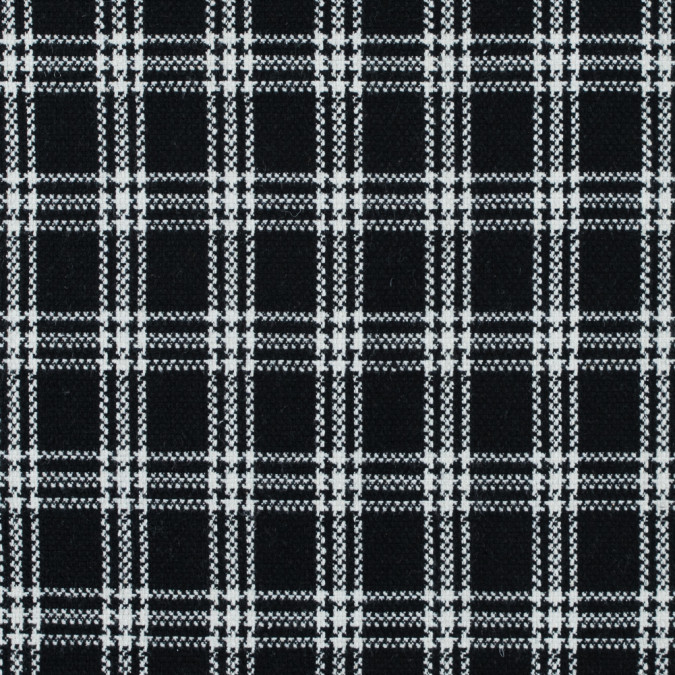 black and white plaid blended wool woven 315180 11