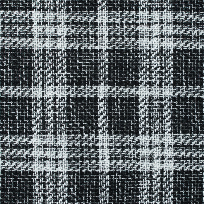 black and white plaid polyester tweed 315222 11 jpg pagespeed ce _FrYWlr kV