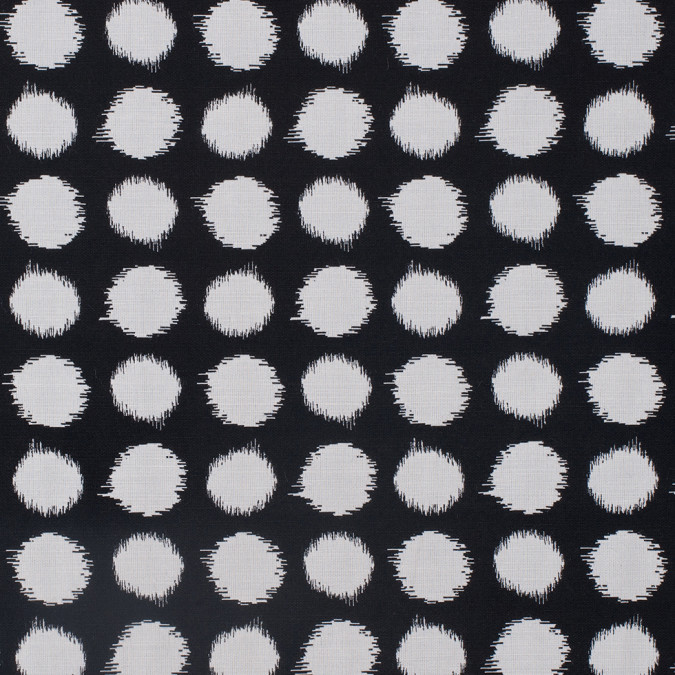 black and white polka dot blended cotton woven 307964 11