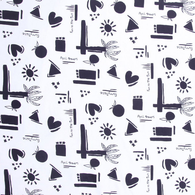 black and white printed cotton twill fc19344 11