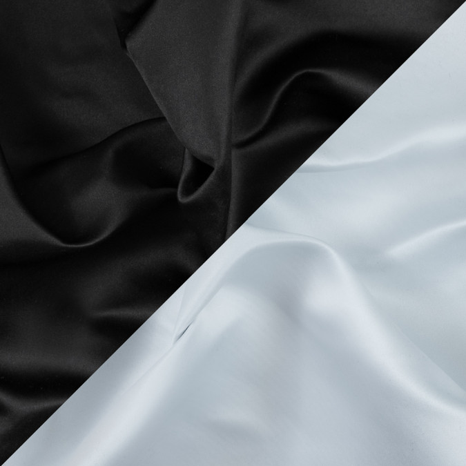 black and white two tone double duchesse satin 312579 11