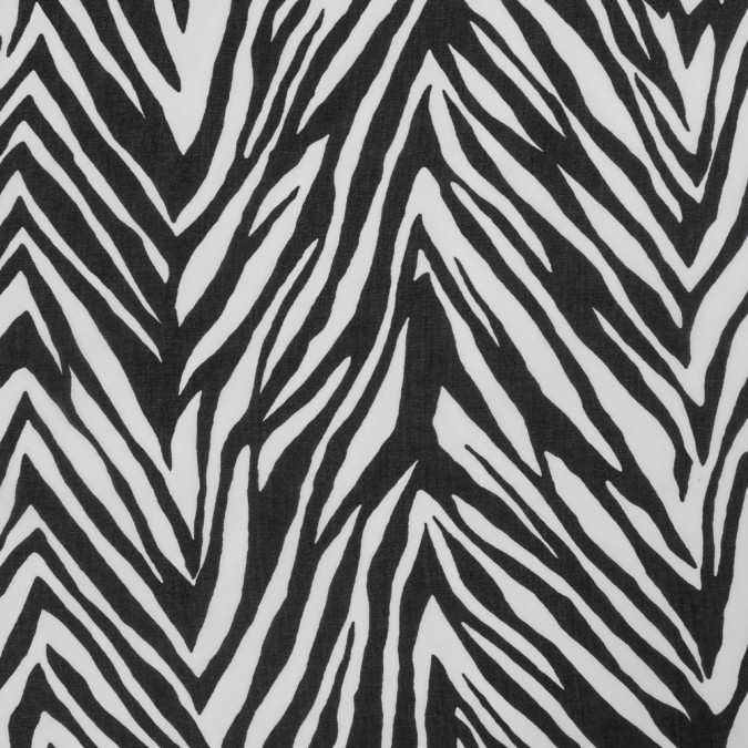 black and white zebra printed chiffon 317542 11