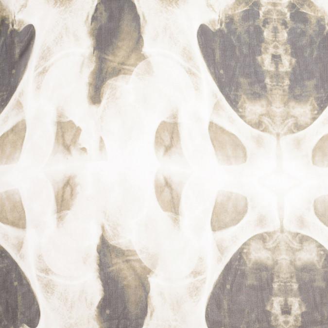 black beige x ray printed silk chiffon panel 306774 11