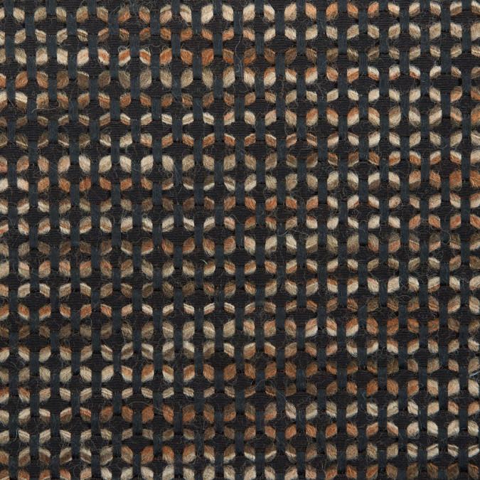 black brown geometric striped novelty woven 311571 11