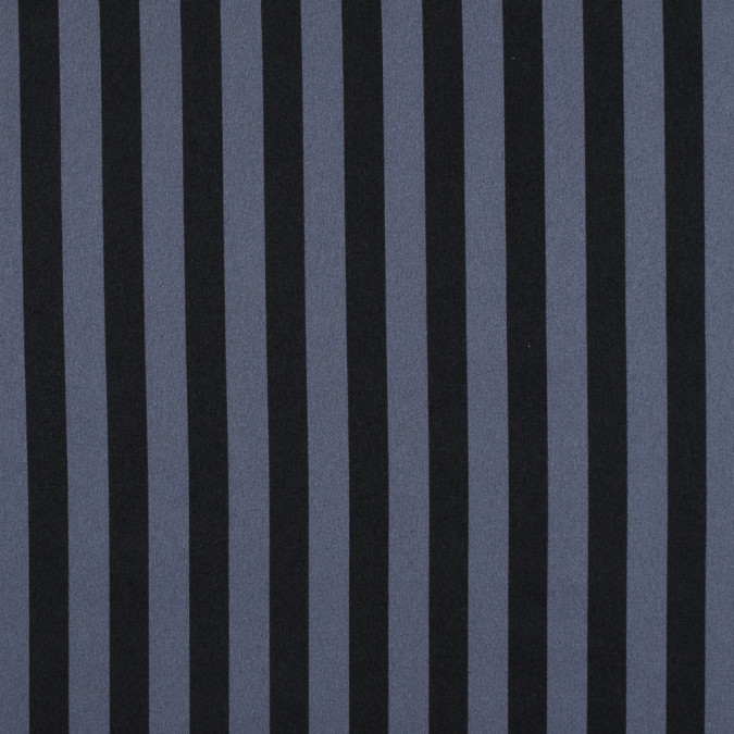 black charcoal wide bengal striped polyester charmeuse 311640 11