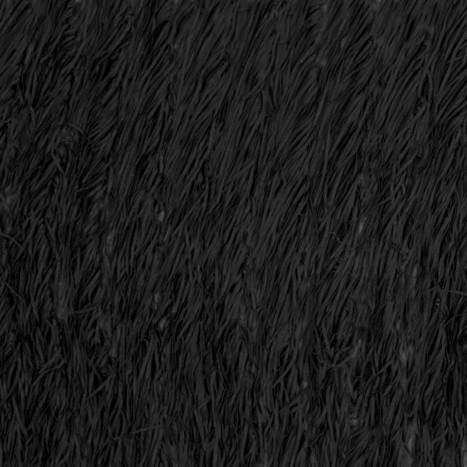 black chiffon fringe fabric 317510 11
