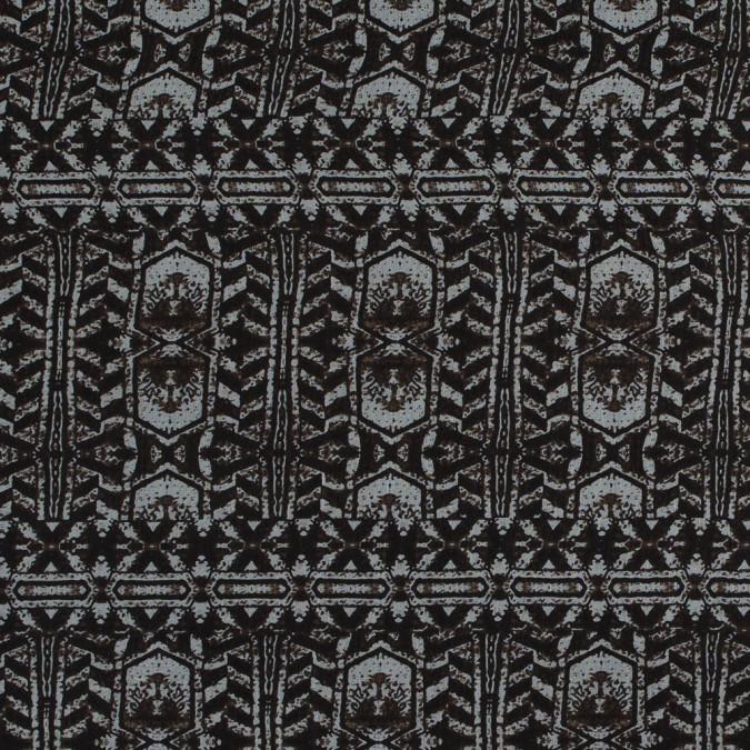 black coffee tribal printed silk chiffon 315817 11