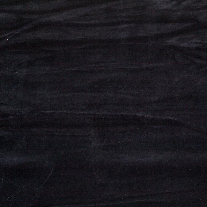 black cotton polyester velour 108001 11