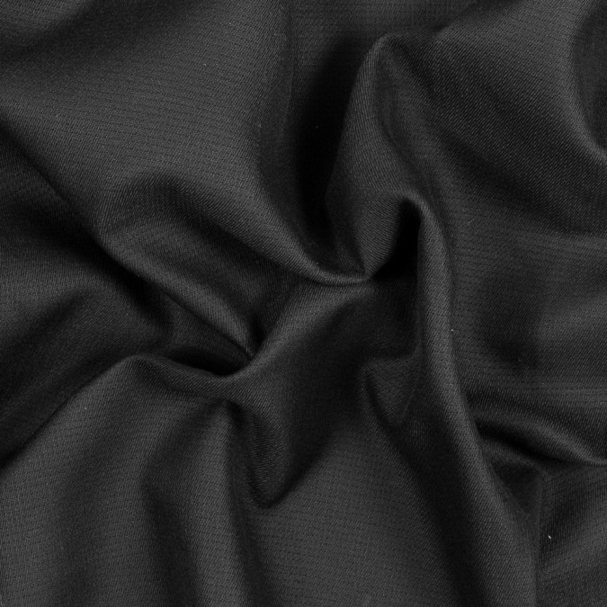 black cotton woven with subtle perforation 318196 11