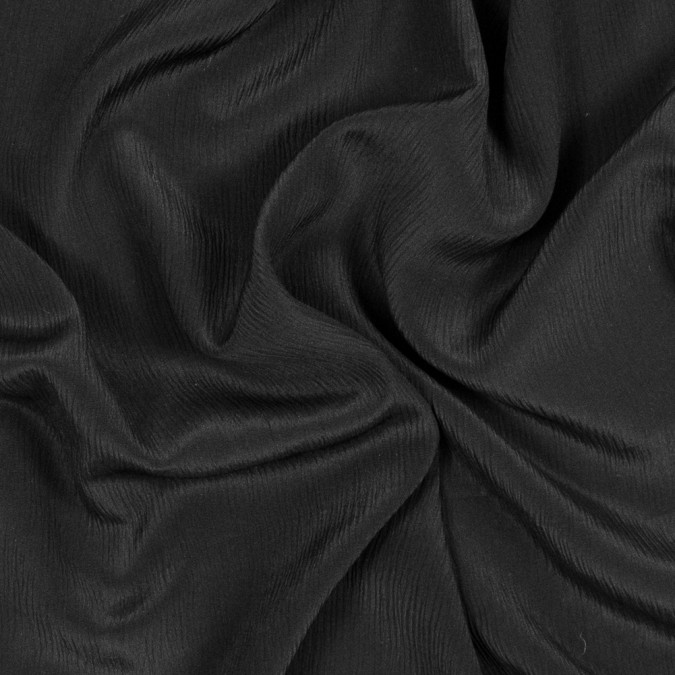 black crinkled silk crepe de chine 318015 11
