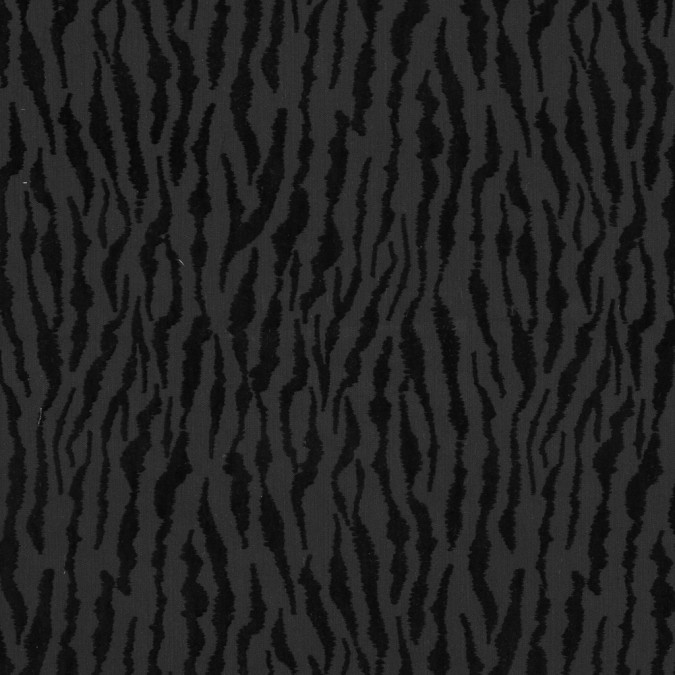 black denim flocked with black tiger striped velvet 318620 11