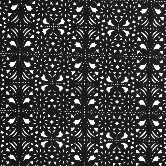 black floral laser cut suede backed scuba knit 318260 11