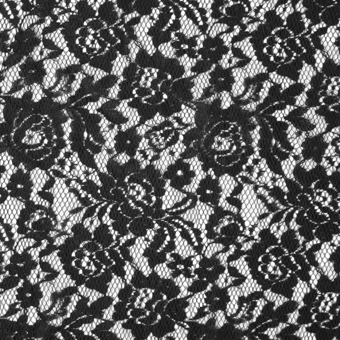 black floral polyester lace w laminate finish 310008 11