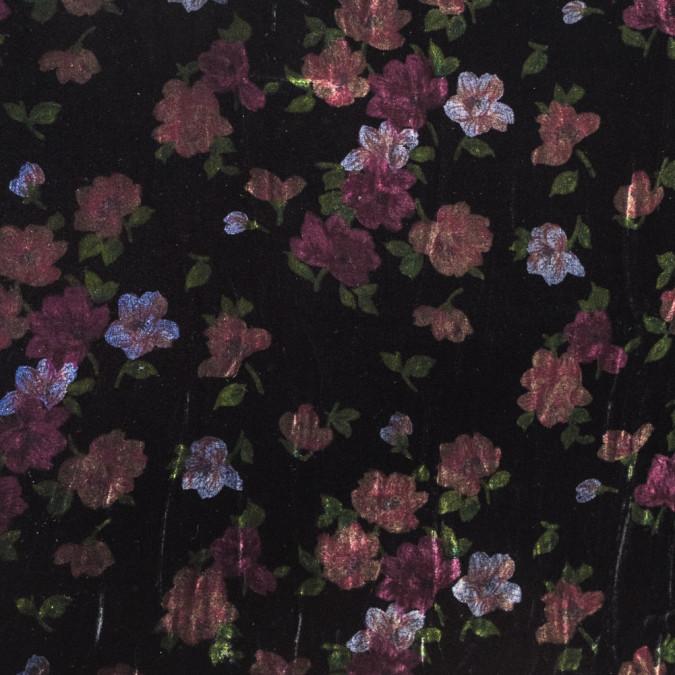 black floral printed silk velvet 319295 11