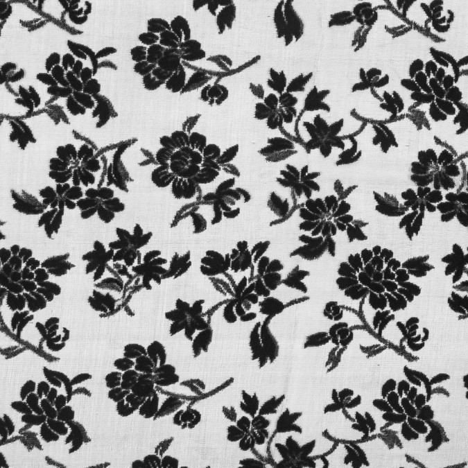 black floral silk and rayon burnout velvet with metallic glimmer 319283 11
