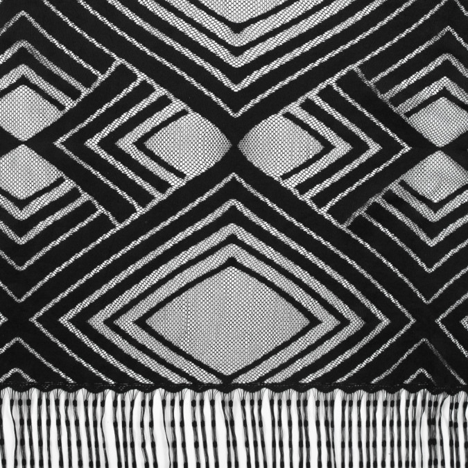 black geometric fringe panel 313334 11