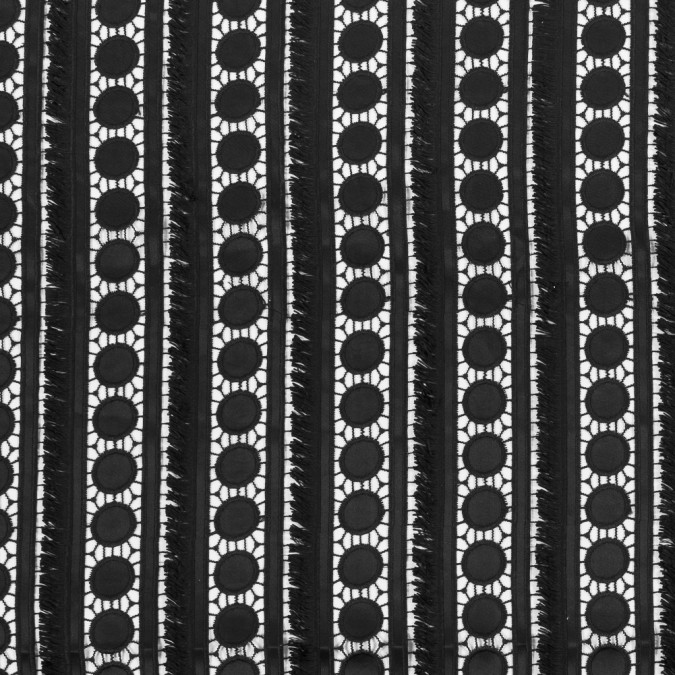 black geometric fringed guipure lace 316498 11