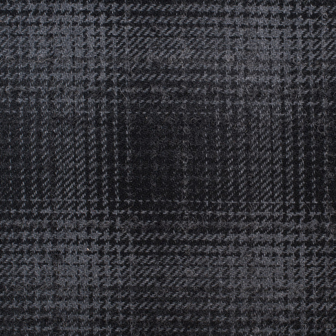 black gray plaid boucled wool acrylic coating 308881 11