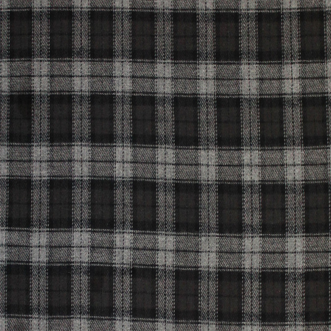 black gray tartan plaid cotton flannel 308617 11