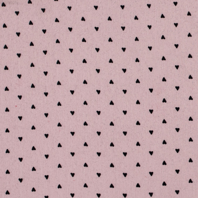black hearts printed on a pink crinkled chiffon 312306 11