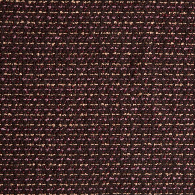 black lavender magenta polyester boucle 309397 11
