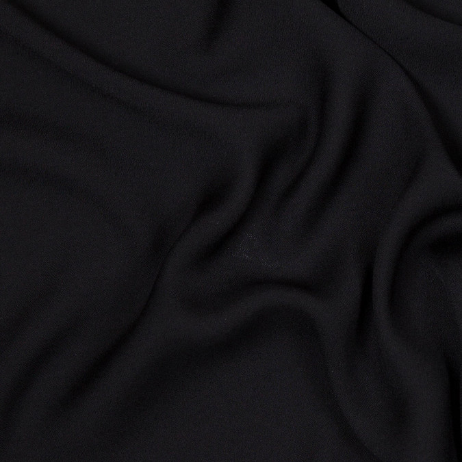 black lightweight polyester crepe 303918 11