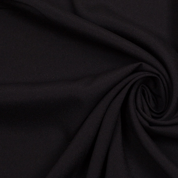 black mechanical stretch polyester crepe de chine 306657 11