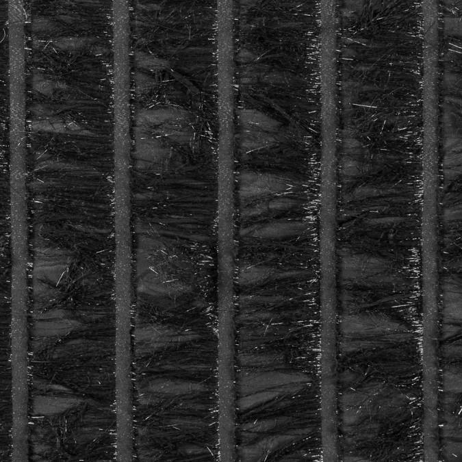 black metallic eyelash fringed novelty woven 309191 11
