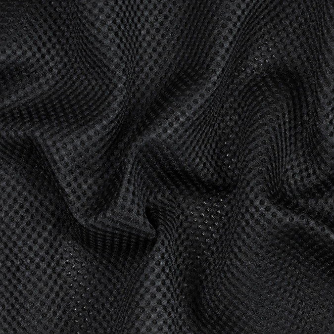 black novelty circular spacer mesh 318103 11