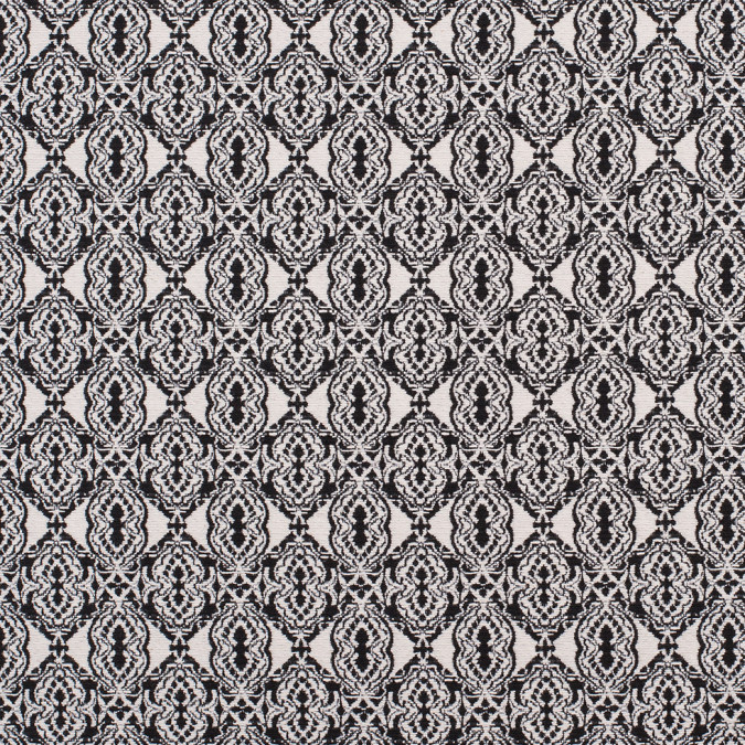 black off white geometric diamonds cotton jacquard 308873 11