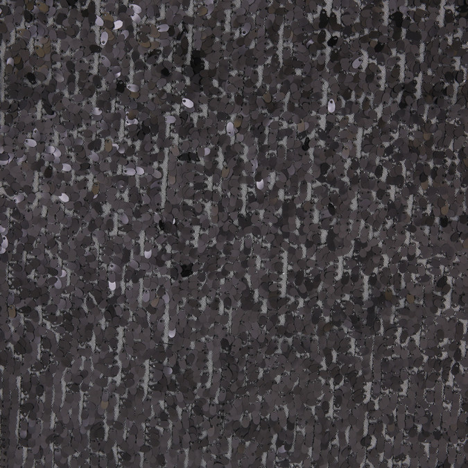 black oval piette sequins on polyester mesh 306534 11