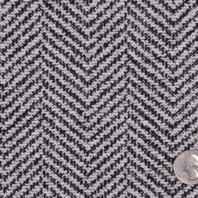 black pale gray herringbone wool blended boucle fw12097 11