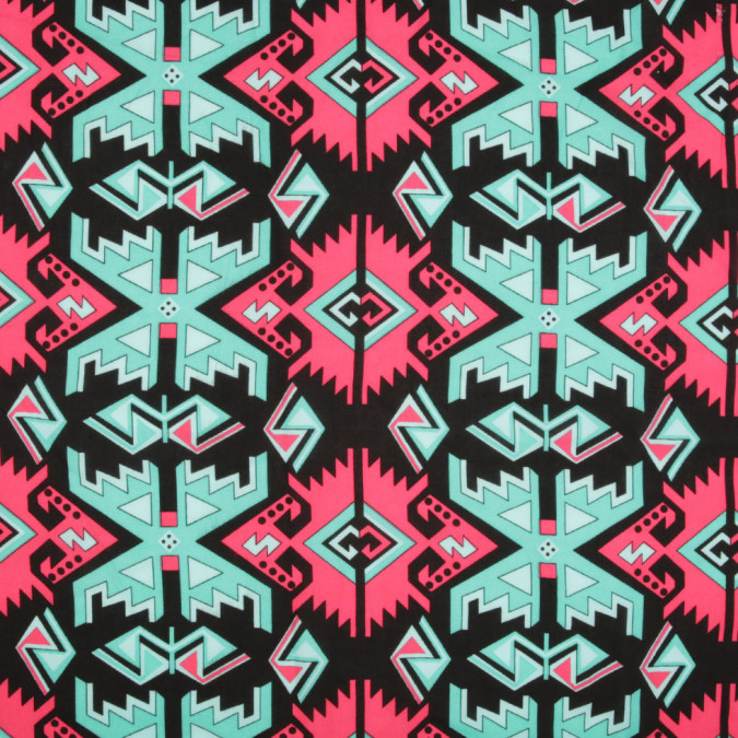 black pink green geometric rayon woven 306572 11