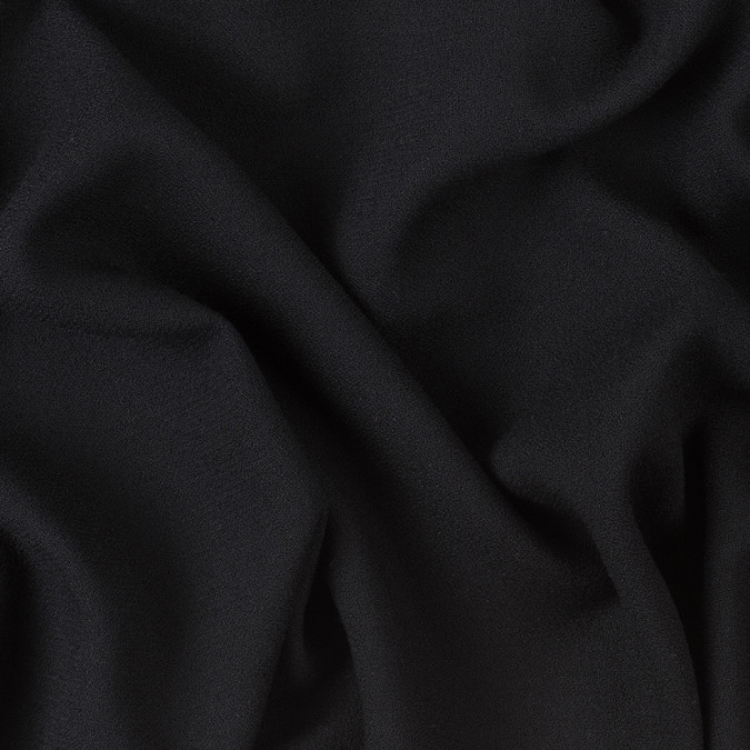 black polyester blended crepe 307997 11