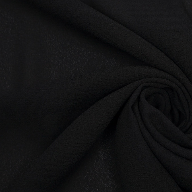 black polyester crepe 307351 11