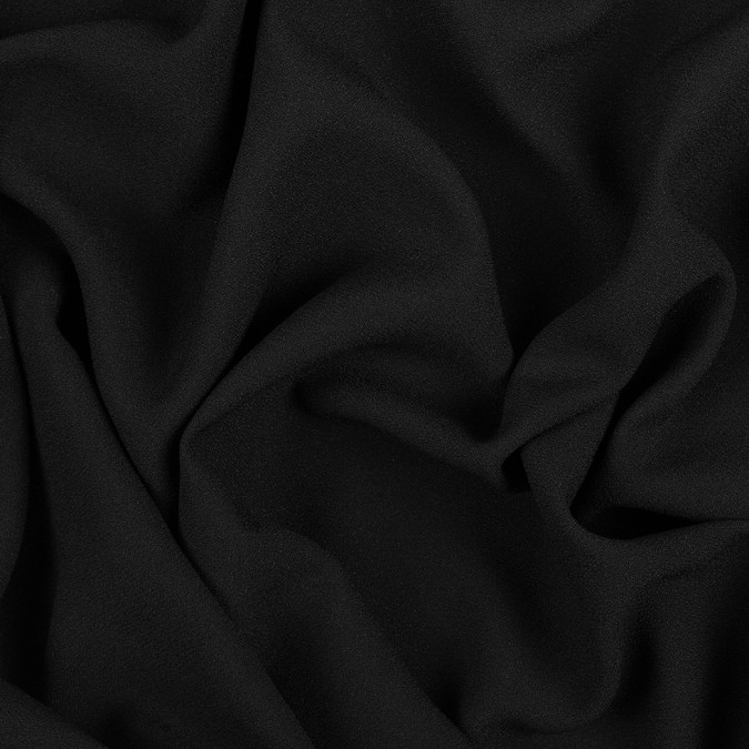 black polyester viscose crepe 308867 11