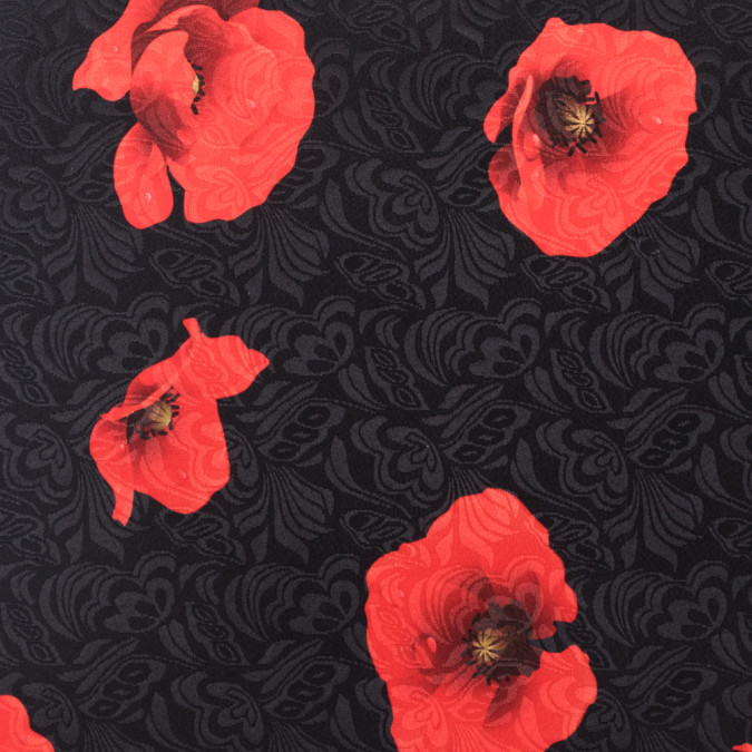 black red digitally printed floral on a butterfly jacquard 115256 11
