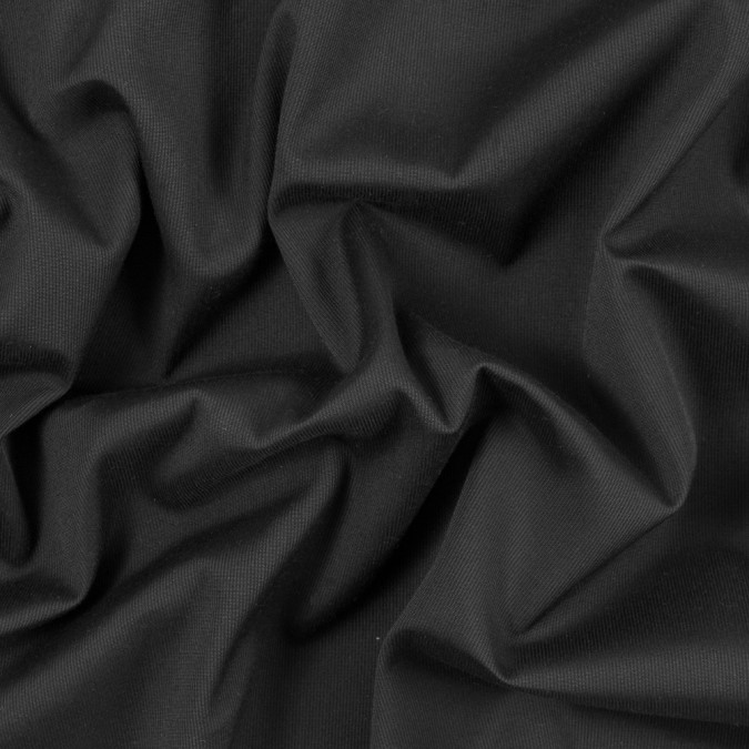 black ribbed stretch cotton woven 315373 11